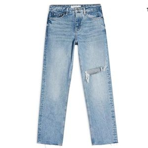 Topshop Moto NY Bleach Straight Jeans US26